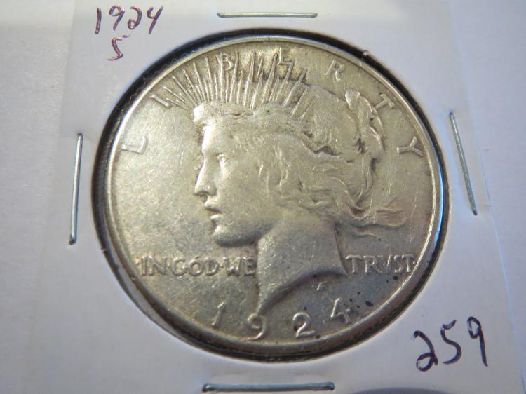 1924S Peace Silver Dollar