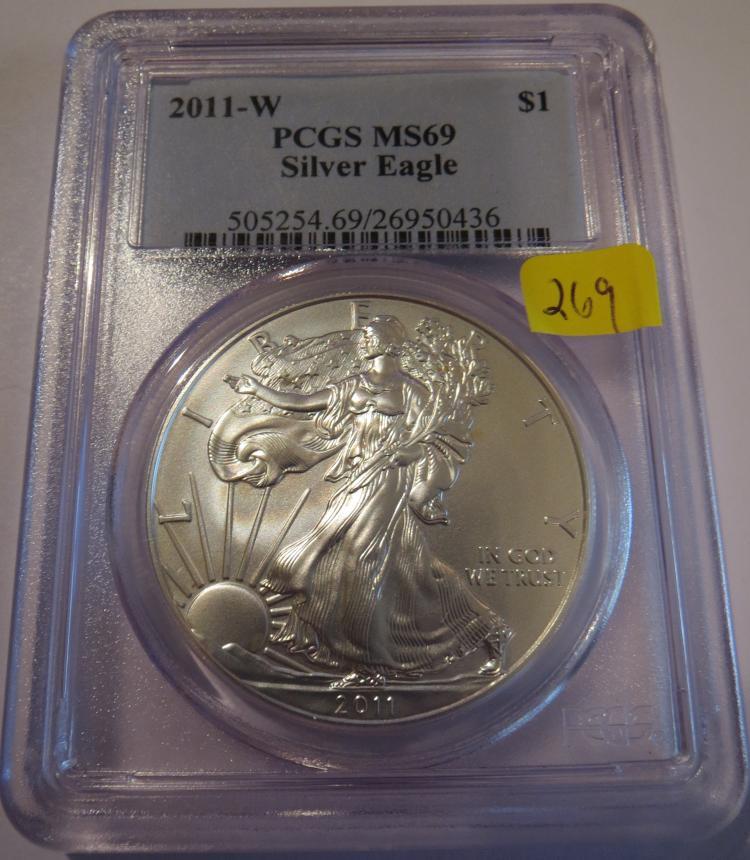 2011W American Silver Eagle