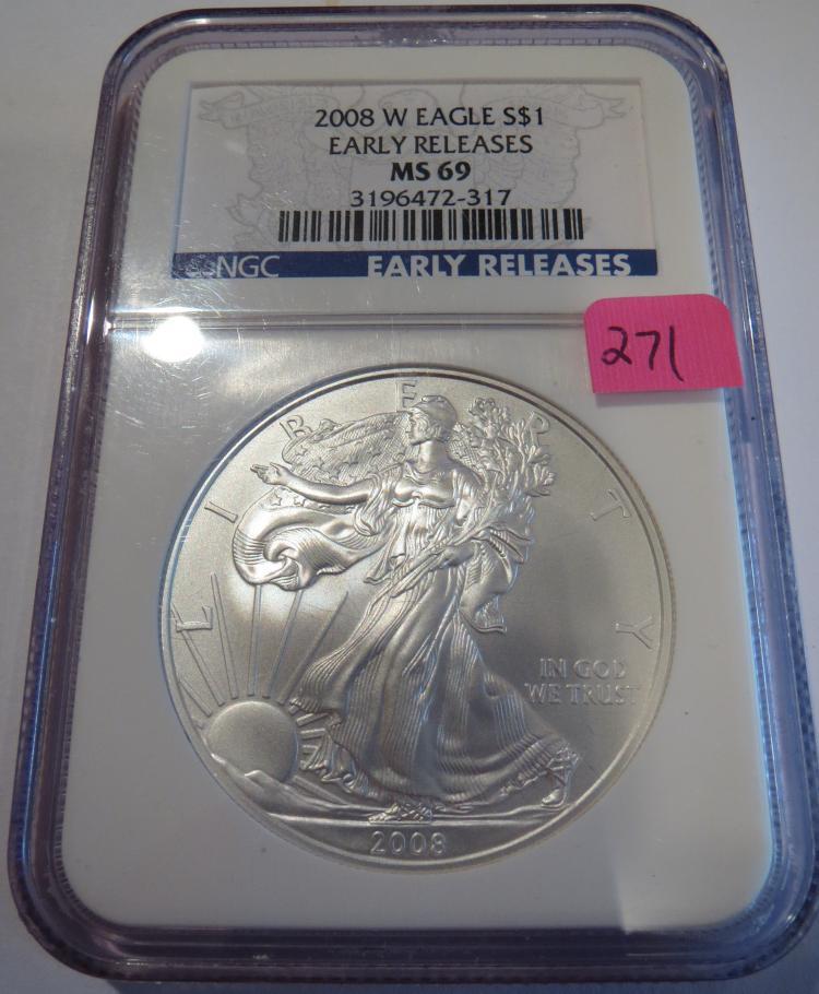 2008W American Silver Eagle