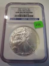 2007 American Silver Eagle - NGC GEM UNC