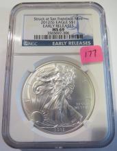 2012(S) American Silver Eagle - NGC MS69 Struck at San Francisco Mint