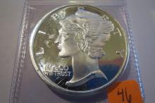 Mercury 1 oz .999 Silver Round