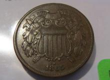 1865 US Two Cent Piece - XF