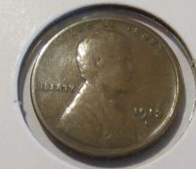 1913S Lincoln Wheat Penny - F