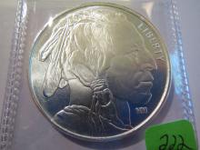 Indian and Eagle 1 oz .999 Silver Round