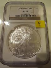 2010 American Silver Eagle - NGC MS69