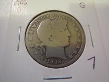 1902O Barber Half Dollar - G