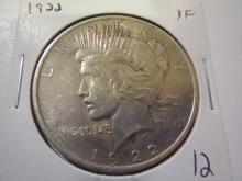 1922 Peace Silver Dollar - XF