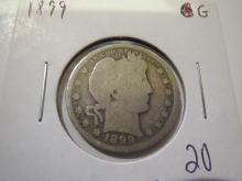 1899 Barber Silver Quarter