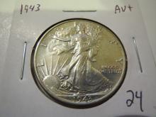 1943 Walking Liberty Half Dollar - AU+