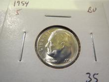 1954S Roosevelt Silver Dime