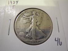 1934S Walking Liberty Half Dollar