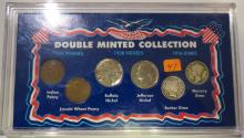 Double Minted Collection: 1909 Indian & Lincoln Penny, 1938D & 1938 Nickels, 1916 Barber & Mercury Dimes