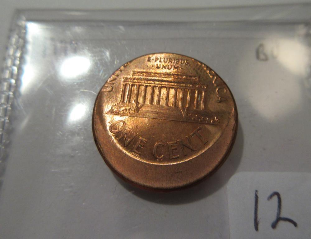 1999 Lincoln Memorial Penny - Mint Error off Center - High Grade