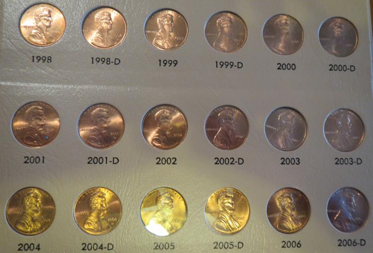1909 - 2012 Lincoln Penny Set in Dansco Coin Album no 09s