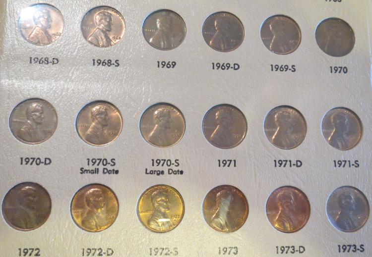 1909 - 2012 Lincoln Penny Set in Dansco Coin Album no 09s, 09S VDB