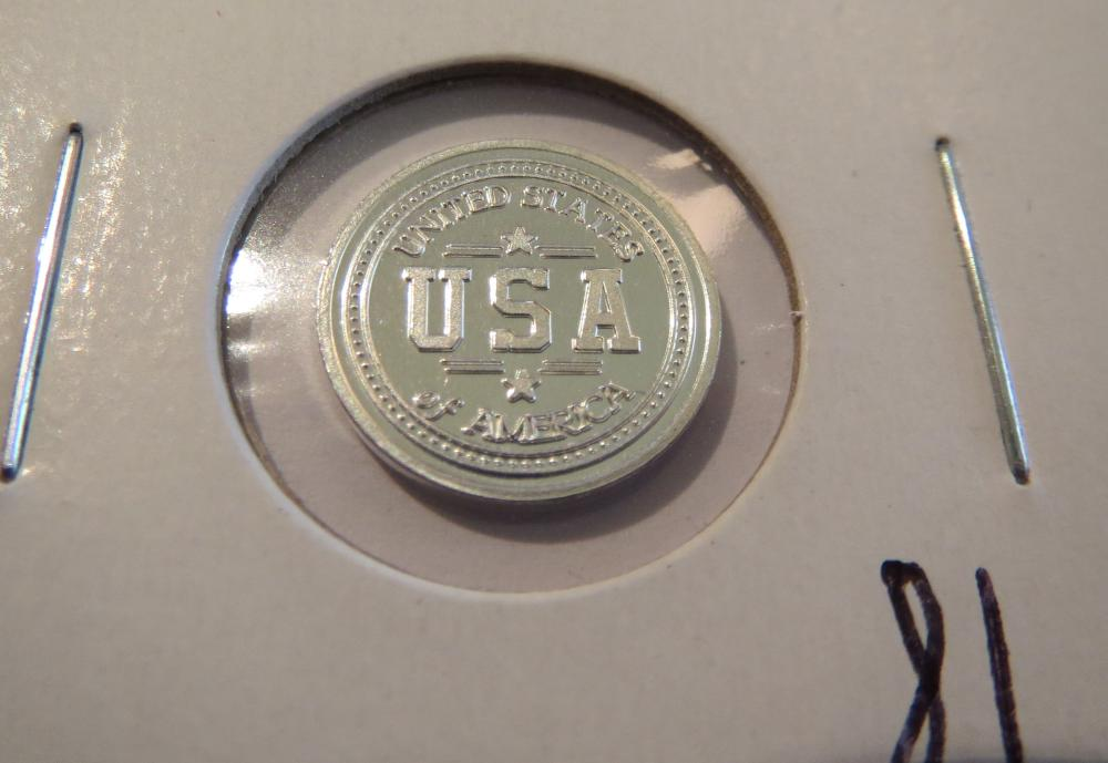Usa 1 Gram 999 Silver Bar