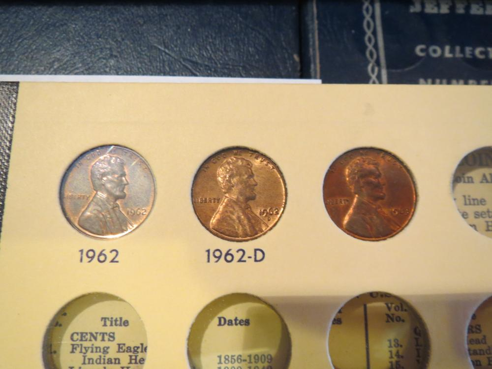 1941 - 1962 Lincoln Penny Set in Vintage Coin Album