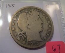 1915 Barber Half Dollar - semi key
