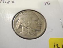 1918D Buffalo Nickel - VG