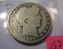 1897O Barber Half Dollar - Semi key