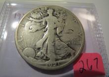1921D Walking Liberty Half Dollar
