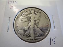 1936D Walking Liberty Half Dollar