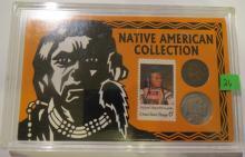 Native American Collection 1888 Indian Head Penny & 1937 Buffalo Nickel