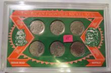 American Fontier Nickel Set: 1923,1937, 1929, 1937, 1928 & 1920