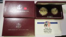 1992S US Olympic Commemorative Silver Dollar & Clad Half