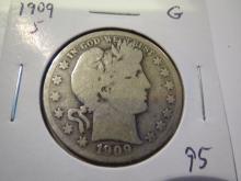1909S Barber Half Dollar - better date