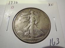 1936S Walking Liberty Half Dollar  - XF