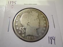 1895O Barber Half Dollar  - gouges