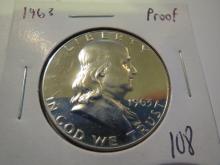 1963 Franklin Half Dollar - Proof