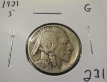 1921S Buffalo Nickel