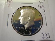 1981S Kennedy Half Dollar