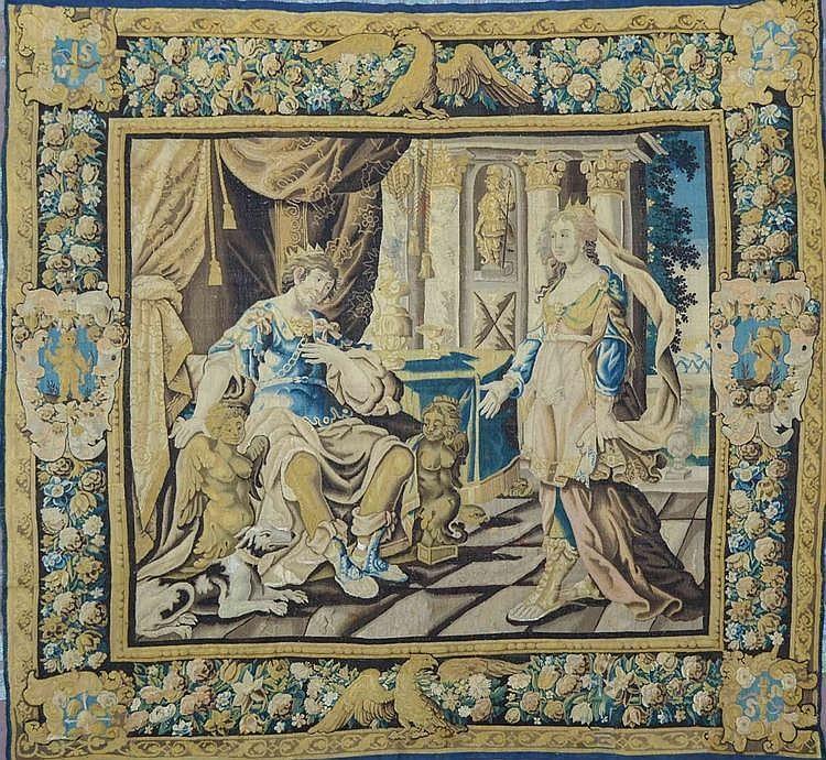 tapisserie d 39 aubusson en laine et soie d cor d 39 une sc ne g
