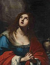 "Attribué à Mario BALASSI (1604-1667) ""Marie Madeleine"" Toile 89,5 x 62cm"