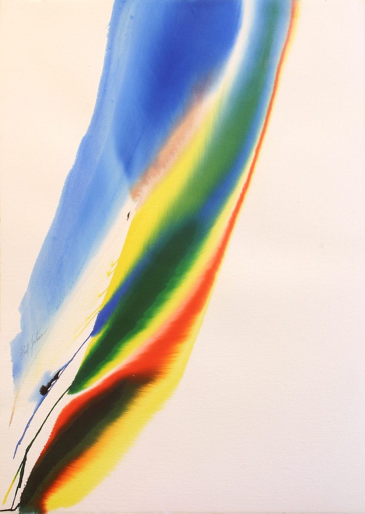 Phenomena Cry of the Peacock - Original Watercolor on Paper by Paul Jenkins