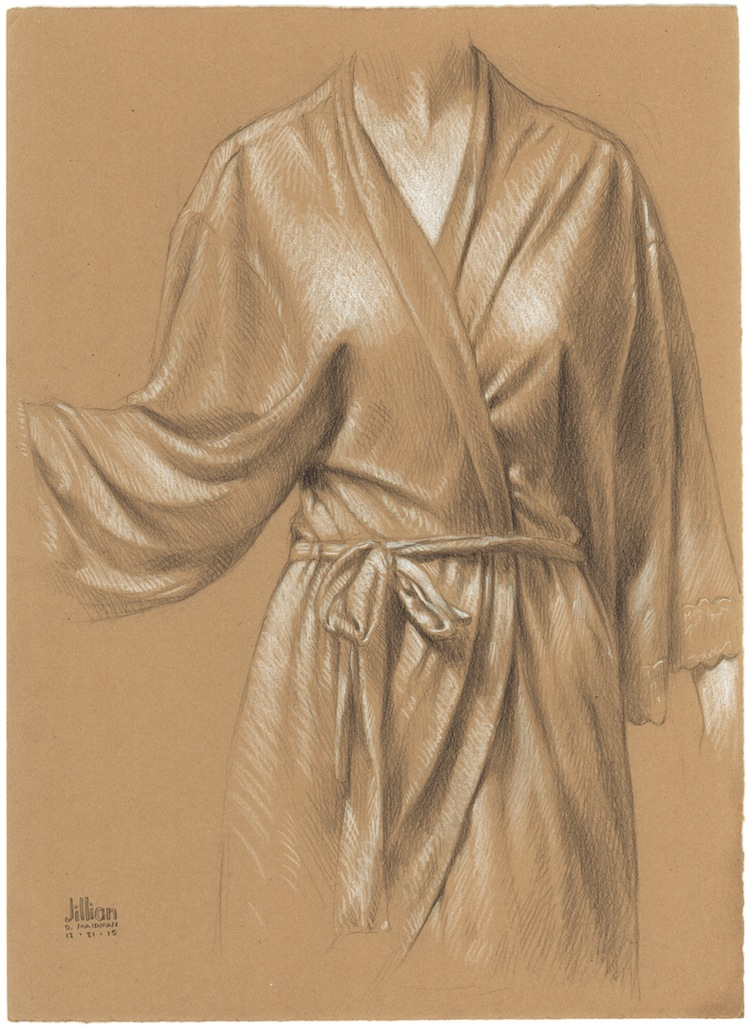 Jillian's Robe - Original Drawing on Paper by Daniel Maidman