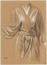 Jillian's Robe - Original Drawing on Paper by Daniel Maidman