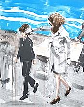 Jackie and John by Elizabeth Peyton - Limited Edition Lithograph