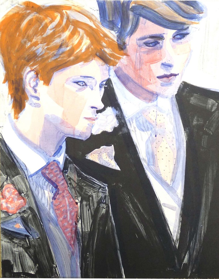 William and Harry by Elizabeth Peyton - Limited Edition Lithograph