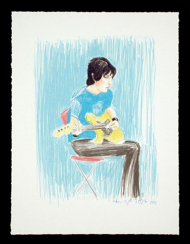 Elliot by Elizabeth Peyton - Limited Edition Lithograph