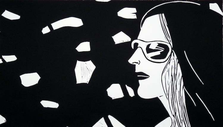 Kym by Alex Katz - Limited Edition Linocut