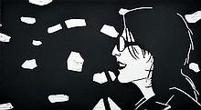Sharon by Alex Katz - Limited Edition Linocut