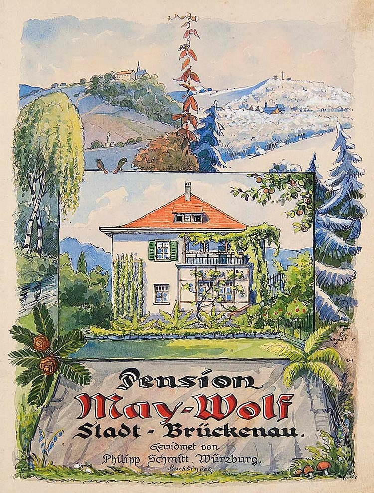 * Gästebuch Pension May-Wolf.