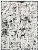 Böhmer, Gunter Thomas Mann und Felix Krull. Radierung auf festem Crisbrook-Bütten (mit Wasserzeichen). 53,4 x 40,5 cm (80 x 57,4 cm). Signiert und nummeriert. - Etwas knickspurig sowie der volle weiße Rand teils etwas schmutzfleckig., Gunter Böhmer, Click for value