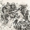 John, JoachimO.T. (Im Gebirge). 1987. Radierung, Joachim John, Click for value