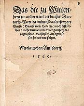 Amsdorf, Nikolaus von Das die zu Wittenberg im